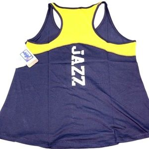 newest 2cd3b 59641 Utah Jazz Women's Baby Jersey Racer Back Tank Top NWT